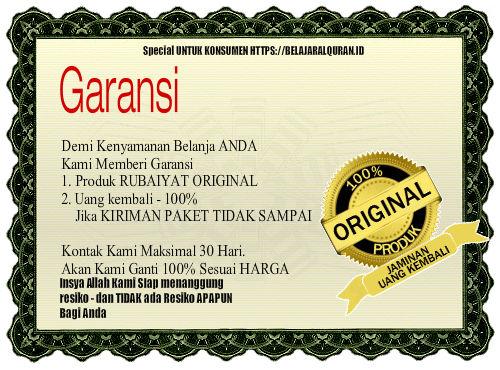 garansi Paket Rubaiyat indonesia Original