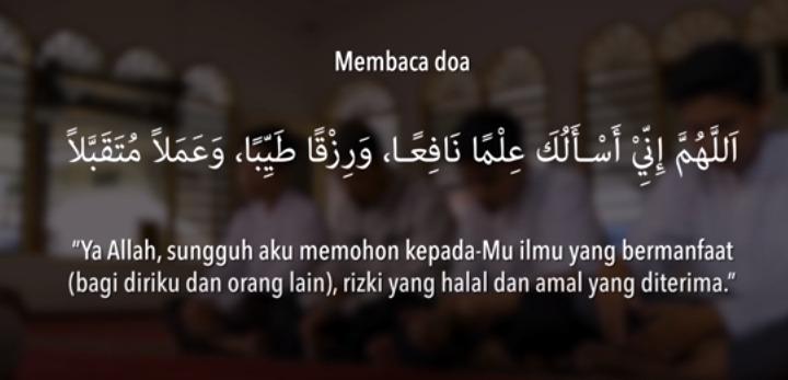 cara berdoa setelah sholat fardhu